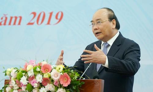 Thủ tướng Nguyễn Xuân Phúc phát biểu tại Hội nghị về năng suất lao động ngày 7/8. Ảnh: VGP.
