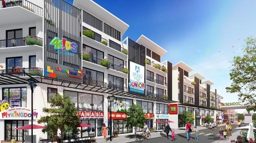 Town 2, Town 3 và Town 4 được quy hoạch trở thành tiểu khu sôi động nhất dự án Khai Sơn Town.