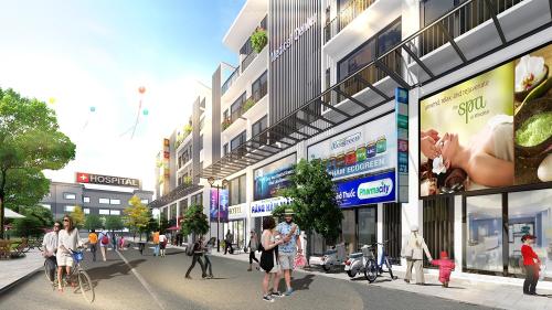 Town 2,3 và 4 gần trường học, bệnh viện và nhiều mặt đường lớn rất thuận tiện kinh doanh.