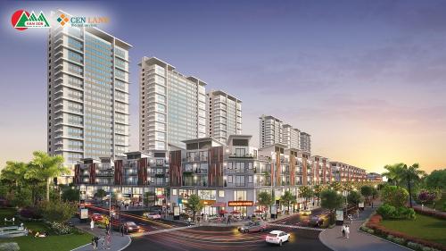 Phối cảnh khu Town 2, 3, và 4 ngay mặt đường 30m, gần kề khu chung cư dự án.
