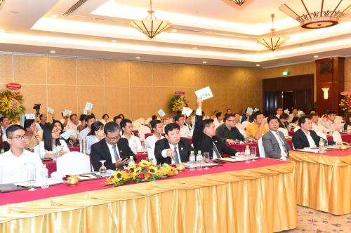 Một phiên họp đại hội đồng cổ đông của Thiên Nam.