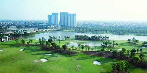Khu đô thị sinh thái Ecopark tại tỉnh Hưng Yên.