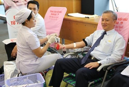2019 là năm thứ 7 liên tiếp, cán bộ nhân viên Sacombank tham gia hiến máu cứu người nhằm hưởng ứng chiến dịch Hành trình đỏ