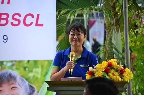 Bà Lynette Moey - Tổng giám đốc Bayer Việt Nam chia sẻ tại buổi lễ.