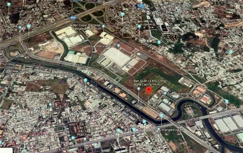 Khu Công nghệ cao TP HCM nằm ở cửa ngõ Đông Bắc. Ảnh:Google maps.