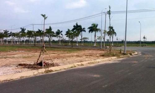 Một dự án bất động sản tại huyện ven TP HCM. Ảnh:P.V