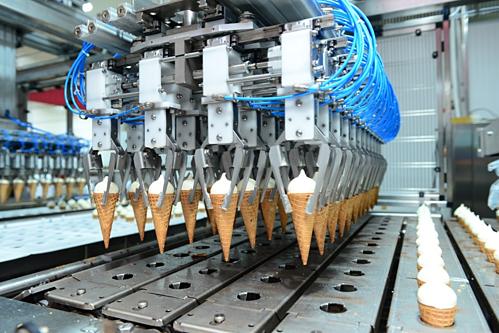 Dây chuyên sản xuất kem của KDF.