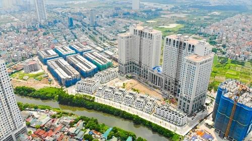 Toàn cảnh dự án Roman Plaza do Tập đoàn Hải Phát làm chủ đầu tư nhìn từ trên cao.
