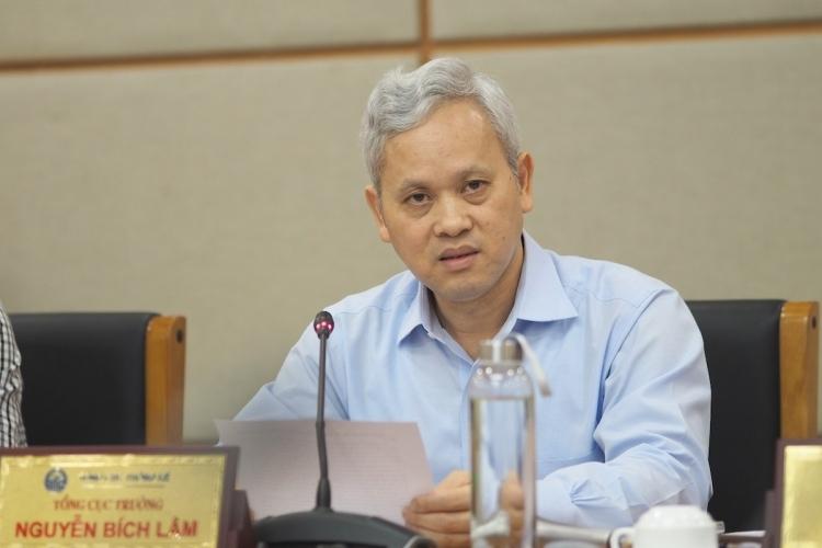 Ông Nguyễn Bích Lâm, Tổng cục trưởng Thống kê trong họp báo sáng nay (16/8). Ảnh:Minh Sơn