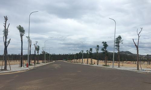 Một góckhu đô thị Nhơn Hội New City (Bình Định) đã hoàn thiện hạ tầng.