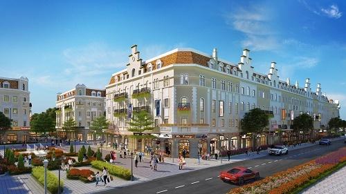 Nằm trong quần thể nhà phố thương mại Sun Plaza Grand World, phân khu Shophouse Europe gồm 328 căn chạy dọc trên 850m mặt đường Hạ Long, ngay trung tâm du lịch Bãi Cháy.