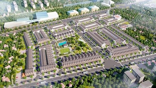 Phối cảnh dự án đất nền Green Complex City.