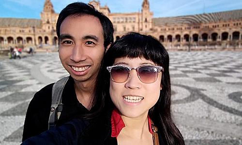 Cặp vợ chồng Kristy Shen. Ảnh: BI.