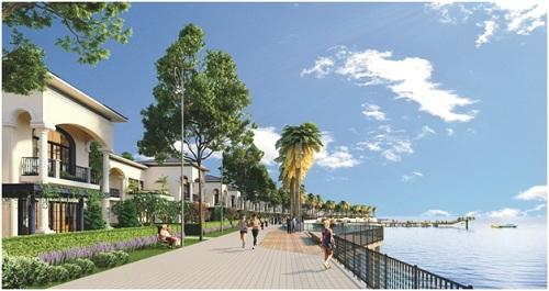 Dãy biệt thự mặt tiền biển với giá bán chỉ 19 triệu đồng một m2 thu hút nhiều nhà đầu tư.