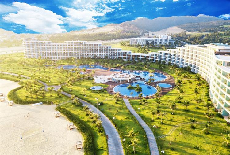 Hội nghị phát triển kinh tế miền Trung tổ chức tại Trung tâm Hội nghị Quốc tế FLC Quy Nhơn, tỉnh Bình Định, nằm trong quần thể du lịch nghỉ dưỡng sinh thái tiêu chuẩn quốc tế của FLC.