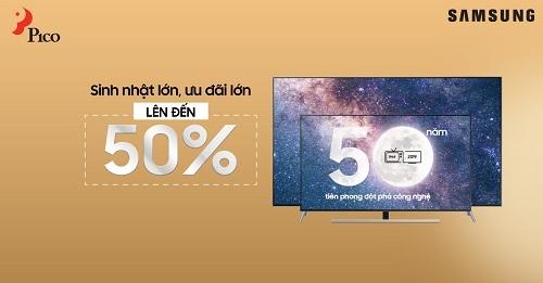 Pico giảm giá đến 50% tivi Samsung.
