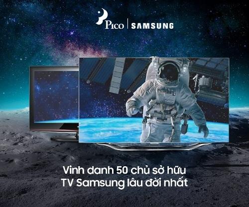 Chương trình Vinh danh 50 chủ sở hữu TV Samsung lâu đời nhất tặng 50 tivi cho khách hàng.