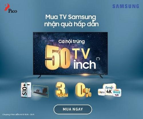 Nhiều ưu đãi khi mua tivi Samsung.