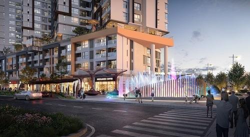 Phối cảnh dự án nhìn từ đại lộ Gamuda.