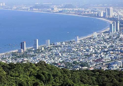 Một góc đô thị biển Đà Nẵng nhìn từ trên cao. Ảnh:Nguyễn Đông.