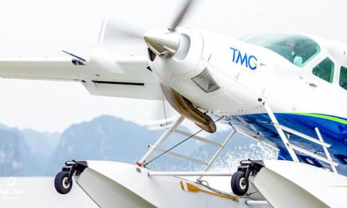Một máy bay của Hải Âu - công ty con chuyên cung cấp dịch vụ bay ngắm cảnh của Tập đoàn Thiên Minh. Ảnh: TMG