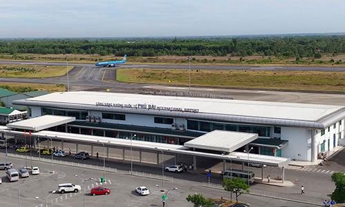 Cảng hàng không quốc tế Phú Bài - nơi Vietravel Airlines chọn làm sân bay căn cứ. Ảnh: VATM.