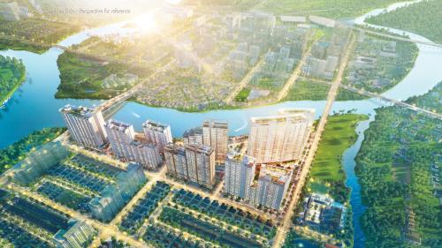 Phú Mỹ Hưng Midtown là một trong những dự án hiếm hoi tại khu Nam Sài Gònsở hữu vị trí sát bên dòng sông tự nhiên.