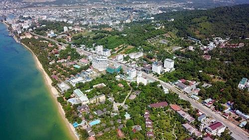 Toàn cảnh Phú Quốc từ trên cao.
