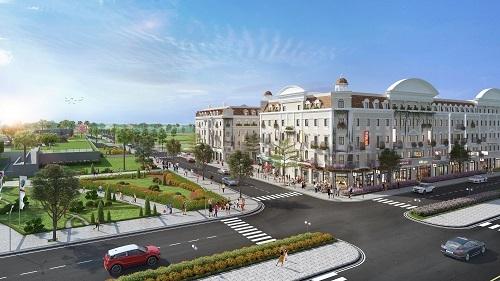 Phối cảnh tiểu khu LOpera nằm cạnh quảng trường Sun Carnival Plaza, khu phức hợp nghỉ dưỡng Sun World