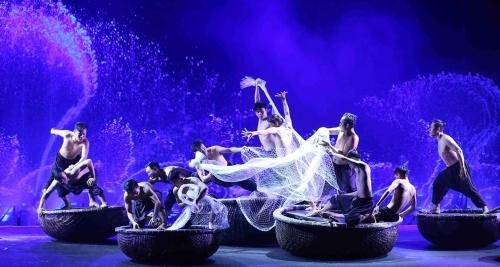 Một hoạt cảnh trong đêm diễn Huyền thoại làng chài.