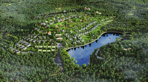 Phối cảnhPanorama Hills tại huyện Lương Sơn, tỉnh Hòa Bình nhìn từ trên cao.