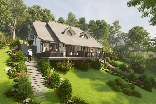 Bản vẽ 3D một căn biệt thự nghỉ dưỡngtại Ponarama Hills.