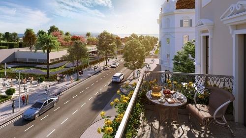 Trục đường rộng 10,5m kết nối LOpéra và bãi tắm Bãi Cháy.