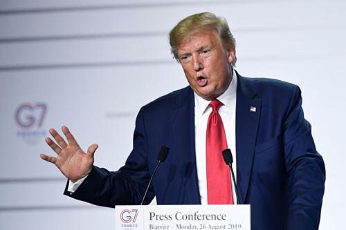 Tổng thống Mỹ Donald Trump tại Hội nghị Thượng đỉnh G7. Ảnh: AFP