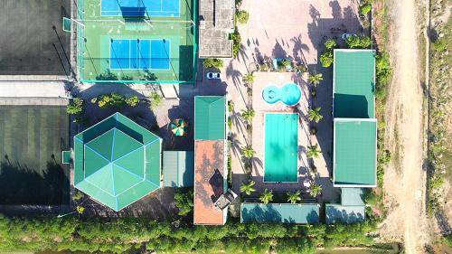 Một góc khu thể thảo giải trí trong Khu đô thị Long Thành