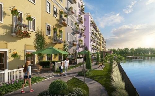 Phối cảnh cho thấy thiết kế đề cao không gian mở, tạo cảm giác thư giãn, tại khu đô thị.
