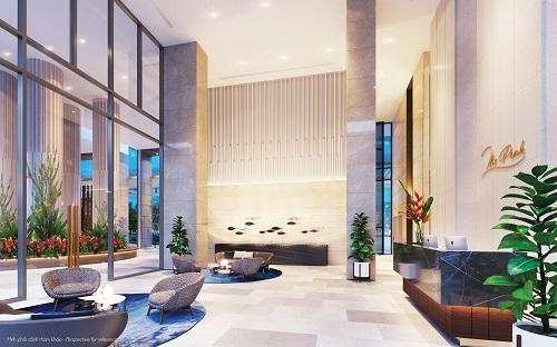 Từ quảng trường bước chân vào sảnh, cư dân sẽ được bước vào một không gian hoàn toàn thư thái, tự tại và sang trọng được thiết kế dựa trên cảm hứng vườn Zen Nhật Bản. Đây cũng là một công trình tiện ích