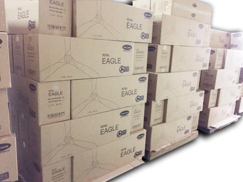 Hiện đơn vị đã chuyển đổi 50% lượng quạt sang thùng giấy tái chế.