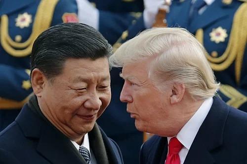Chủ tịch Trung Quốc Tập Cận Bình gặp Tổng thống Mỹ Donald Trumpngày 9/11/2017. Ảnh: AP