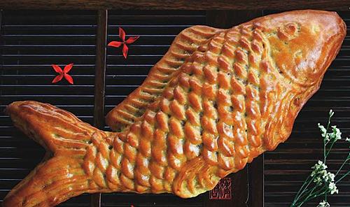 Bánh con cá có trọng lượng 900gram.