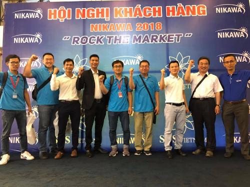 Tham dự chương trình có Phó giám đốc nhà máy Nikawa Hàn Quốc cùng hơn 120 đại lý đối tác, khách hàng phát triển sản phẩm Nikawa.