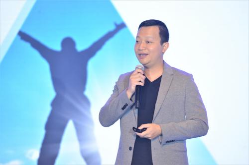 Ông Trần Ngọc Thái Sơn chia sẻ kế hoạch phát triển sàn giao dịch tại hội nghị đối tác của Tiki năm 2019 ngày 31/8 tại TP HCM.