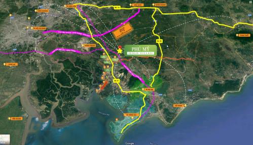 Khu biệt thự Phú Mỹ Gold Villas nằm tại trục đường song hành cao tốc Long Thành - Dầu Giây,kết nối dễ dàng tới các trung tâm thành phố lớn.