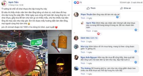 Một chia sẻ trên Facebook về hành động bảo vệ môi trường tại VinMart.