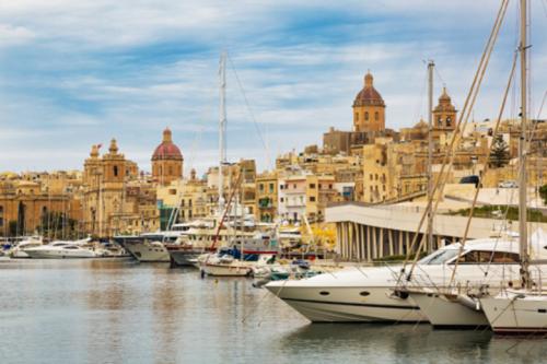 Khu cảng biển của Malta.