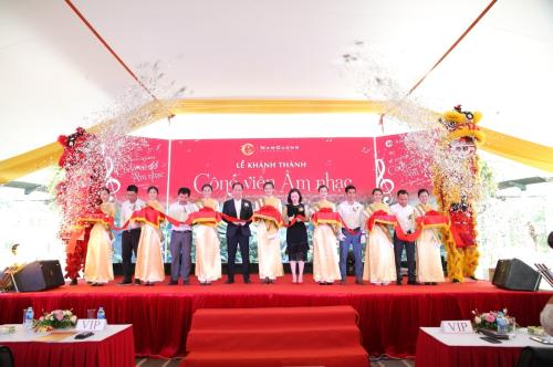 Hàng trăm khách mời và cư dân đến tham dự Lễ Khánh thành Công viên Âm nhạc (xin bài edit)