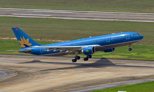 Một tàu bay Airbus A330 của Vietnam Airlines. Ảnh: VNA