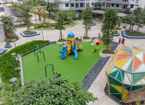 Một không gian vui chơi ngoài trời của trẻ nhỏ.