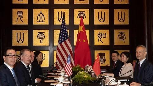 Đoàn đàm phán của Mỹ và Trung Quốc hồi tháng 7. Ảnh: AFP