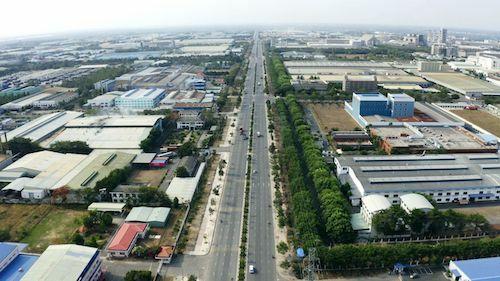 Một góc huyện Nhơn Trạch (Đồng Nai) chụp từ flycam. Ảnh: Cen Sài Gòn